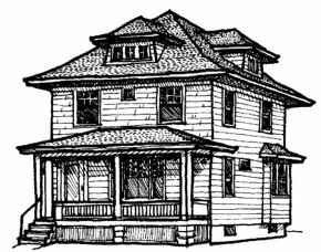 american foursquare home plans